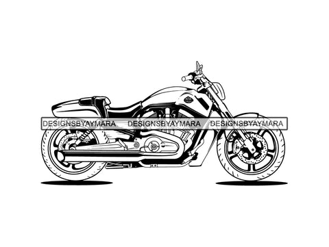 Motorcycle Motor Bike Big Vehicle Dirt Sport Wheel Drive Automobile Automotive Style Biker Cool .PNG .SVG Clipart Vector Cricut Cut Cutting