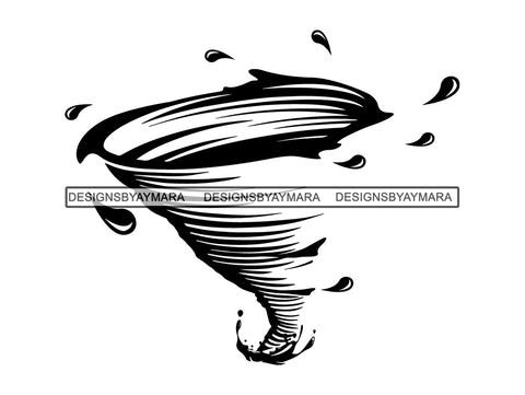 Hurricane Season Tornado Storm Angry Whirlwind Art Design Twirl Twister Cyclone Typhoon Calamity .JPG .PNG .SVG Clipart Vector Cricut Cut Cutting