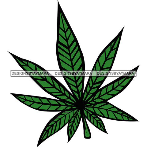 Cannabis Leaf In Color Marijuana Leaf SVG JPG PNG Vector Clipart Cricut Silhouette Cut Cutting