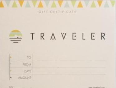 Physical Gift Certificate to Use In-Store