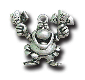 BIG WINNER!!!  KEYRING - Wear Me Out!, Antiqued Silver Plated Pewter Lucky Frog Charm - dog charms, WMO! - Wear Me Out!, Wear Me Out! - mydoglulu