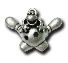 Lucky Bowler!  KEYRING - Wear Me Out!, Antiqued Silver Plated Pewter Lucky Frog Charm - dog charms, WMO! - Wear Me Out!, Wear Me Out! - mydoglulu
