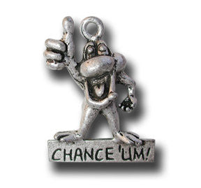 Chance 'Um  KEYRING - Wear Me Out!, Antiqued Silver Plated Pewter Lucky Frog Charm - dog charms, WMO! - Wear Me Out!, Wear Me Out! - mydoglulu