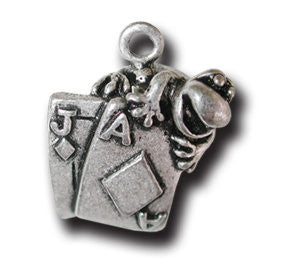 Black Jack  KEYRING - Wear Me Out!, Antiqued Silver Plated Pewter Lucky Frog Charm - dog charms, WMO! - Wear Me Out!, Wear Me Out! - mydoglulu