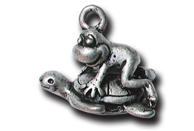 Honu  - Turtle  KEYRING - Wear Me Out!, Antiqued Silver Plated Pewter Lucky Frog Charm - dog charms, WMO! - Wear Me Out!, Wear Me Out! - mydoglulu