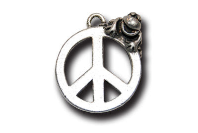 PEACE  KEYRING - Wear Me Out!, Antiqued Silver Plated Pewter Lucky Frog Charm - dog charms, WMO! - Wear Me Out!, Wear Me Out! - mydoglulu