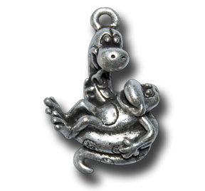 Zodiac - - Snake  KEYRING - Wear Me Out!, Antiqued Silver Plated Pewter Lucky Frog Charm - dog charms, WMO! - Wear Me Out!, Wear Me Out! - mydoglulu