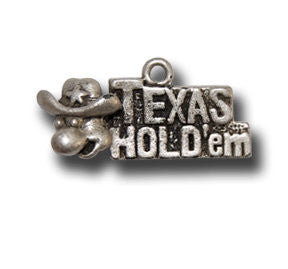 Texas Hold 'Em  KEYRING - Wear Me Out!, Antiqued Silver Plated Pewter Lucky Frog Charm - dog charms, WMO! - Wear Me Out!, Wear Me Out! - mydoglulu