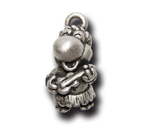 Ukulele Player  KEYRING - Wear Me Out!, Antiqued Silver Plated Pewter Lucky Frog Charm - dog charms, WMO! - Wear Me Out!, Wear Me Out! - mydoglulu