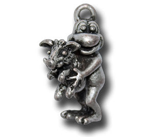 Zodiac -- Boar  KEYGIRL - Wear Me Out!, Antiqued Silver Plated Pewter Lucky Frog Charm - dog charms, WMO! - Wear Me Out!, Wear Me Out! - mydoglulu