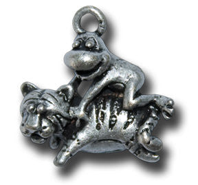 Zodiac - - Tiger  KEYRING - Wear Me Out!, Antiqued Silver Plated Pewter Lucky Frog Charm - dog charms, WMO! - Wear Me Out!, Wear Me Out! - mydoglulu
