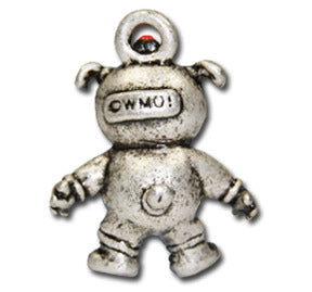 Astronaut Doggie  KEYRING - Wear Me Out!, Antiqued Silver Plated Pewter Doggie Charm - dog charms, WMO! - Wear Me Out!, Wear Me Out! - mydoglulu