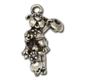 Champion Bull Rider  KEYRING - Wear Me Out!, Antiqued Silver Plated Pewter Doggie Charm - dog charms, WMO! - Wear Me Out!, Wear Me Out! - mydoglulu