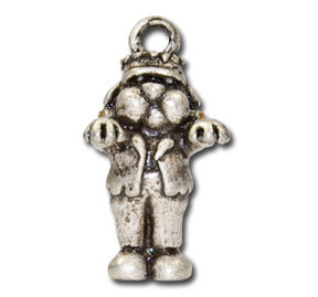 Franken-LuLu-Stein  KEYRING - Wear Me Out!, Antiqued Silver Plated Pewter Doggie Charm - dog charms, WMO! - Wear Me Out!, Wear Me Out! - mydoglulu