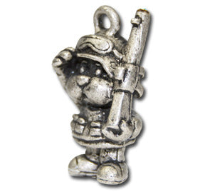 Soldier Doggie!  KEYRING - Wear Me Out!, Antiqued Silver Plated Pewter Doggie Charm - dog charms, WMO! - Wear Me Out!, Wear Me Out! - mydoglulu
