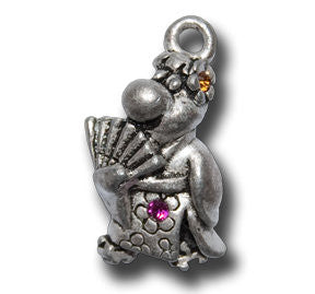 Kimono Froggy with Crystals  KEYRING - Wear Me Out!, Antiqued Silver Plated Pewter Lucky Frog Charm - dog charms, WMO! - Wear Me Out!, Wear Me Out! - mydoglulu