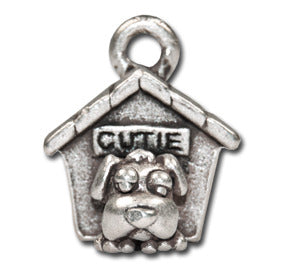 Home is where your dog is  KEYRING - Wear Me Out!, Antiqued Silver Plated Pewter Doggie Charm - dog charms, WMO! - Wear Me Out!, Wear Me Out! - mydoglulu