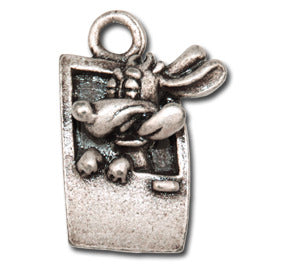 Ahh Fresh Air!  KEYRING - Wear Me Out!, Antiqued Silver Plated Pewter Doggie Charm - dog charms, WMO! - Wear Me Out!, Wear Me Out! - mydoglulu