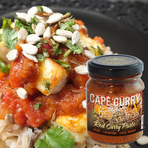 Paneer with Red Cape Curry Paste (a 'party-piece' to make in a hurry!)