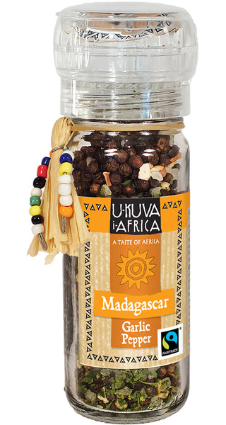 Grinder FLO Pepper - Madagascar Garlic Pepper - Ukuva iAfrica