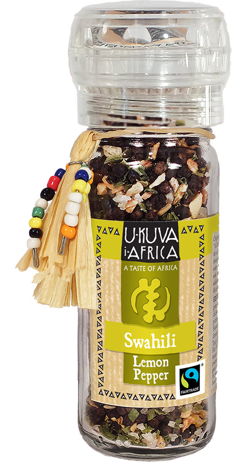 Grinder FLO Pepper - SWAHILI Lemon Pepper - Ukuva iAfrica