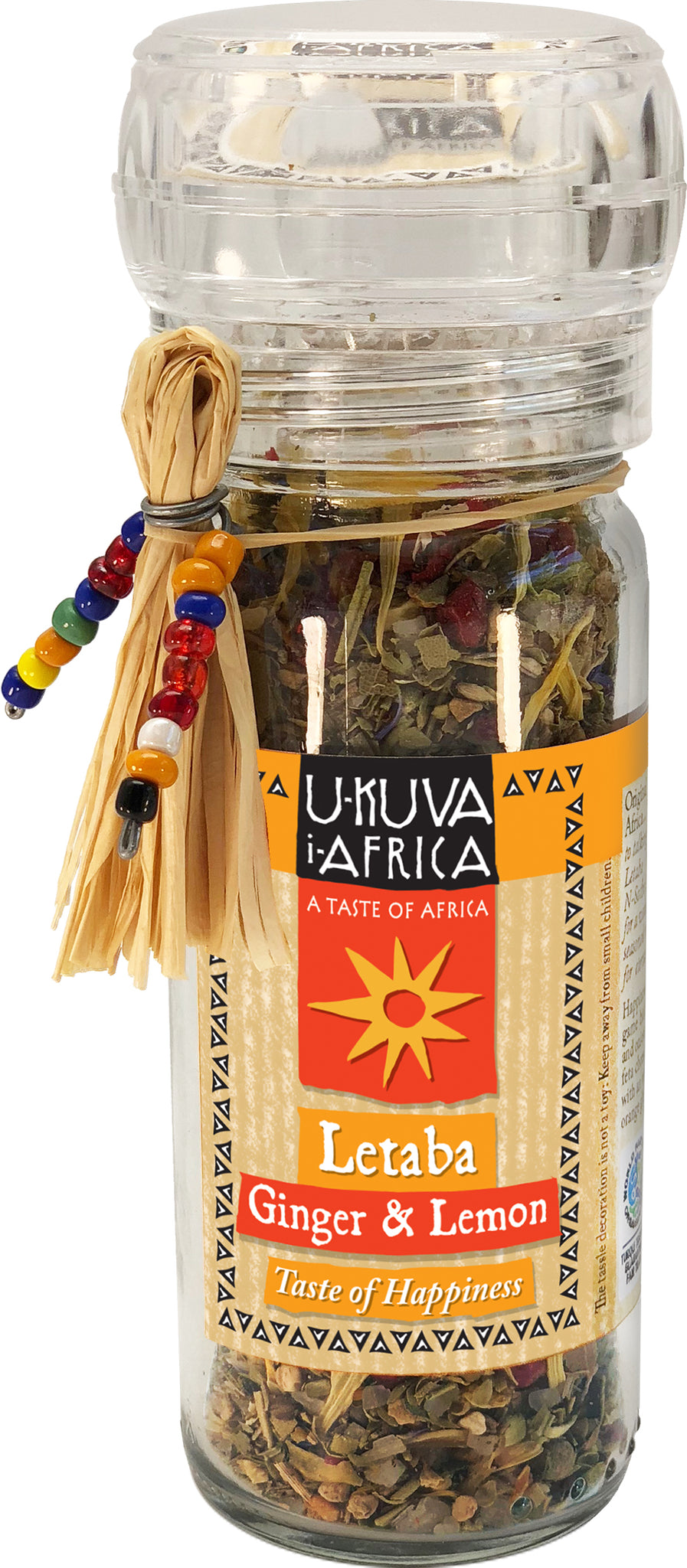 Grinder - Letaba Ginger & Lemon Happiness Salt - Ukuva iAfrica
