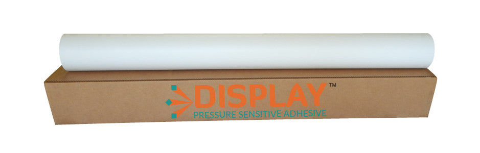 DISPLAY - Calendared Matte White Economy Vinyl, Clear Permanent Adhesive 3.4mil, 80# Liner - 54