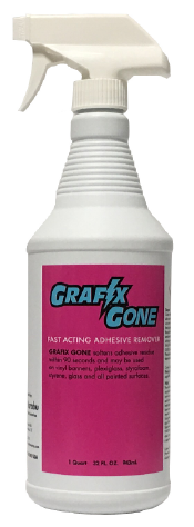 Grafix Gone - Adhesive Remover, Quart Spray Bottle