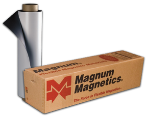 "Magnum Magnetics 24""x12"" Matte White Flexible Vehicle Magnetic, .030 mil"