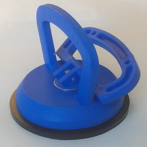 "Suction Cup - 3.5"" Blue Suction Cup for Picking up Sheets of Smooth Substrates"