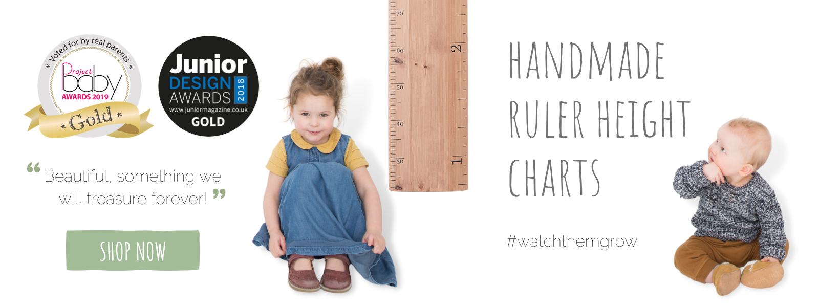 Handmade wooden Ruler Height Charts as seen in Stacey Solomon and Mrs Hinch