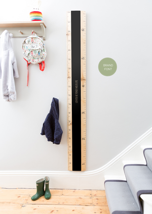 Chalkboard Ruler Height Chart - Biscuit