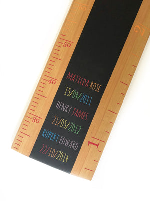 Rainbow Ruler Height Chart