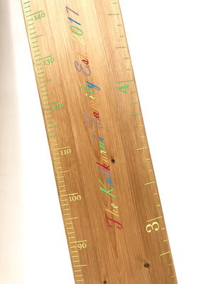 Personalised Rainbow Ruler Height Chart