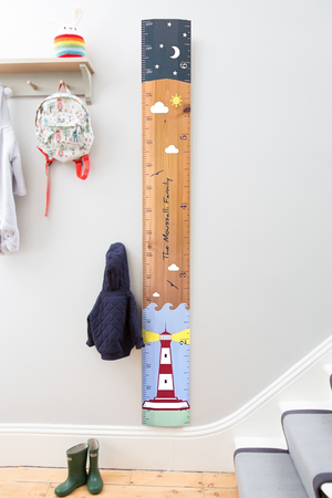 Bespoke Lighthouse Ruler Height Chart
