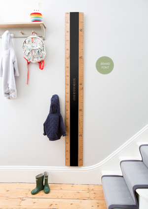 Chalkboard Ruler Height Chart - Fawn