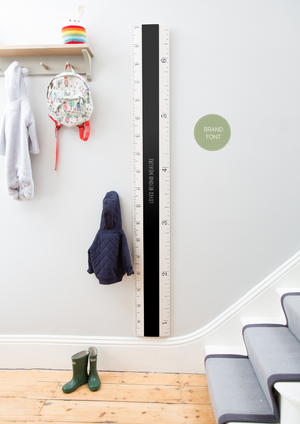 Chalkboard Ruler Height Chart - Putty