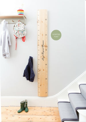 Ruler Height Chart - Biscuit