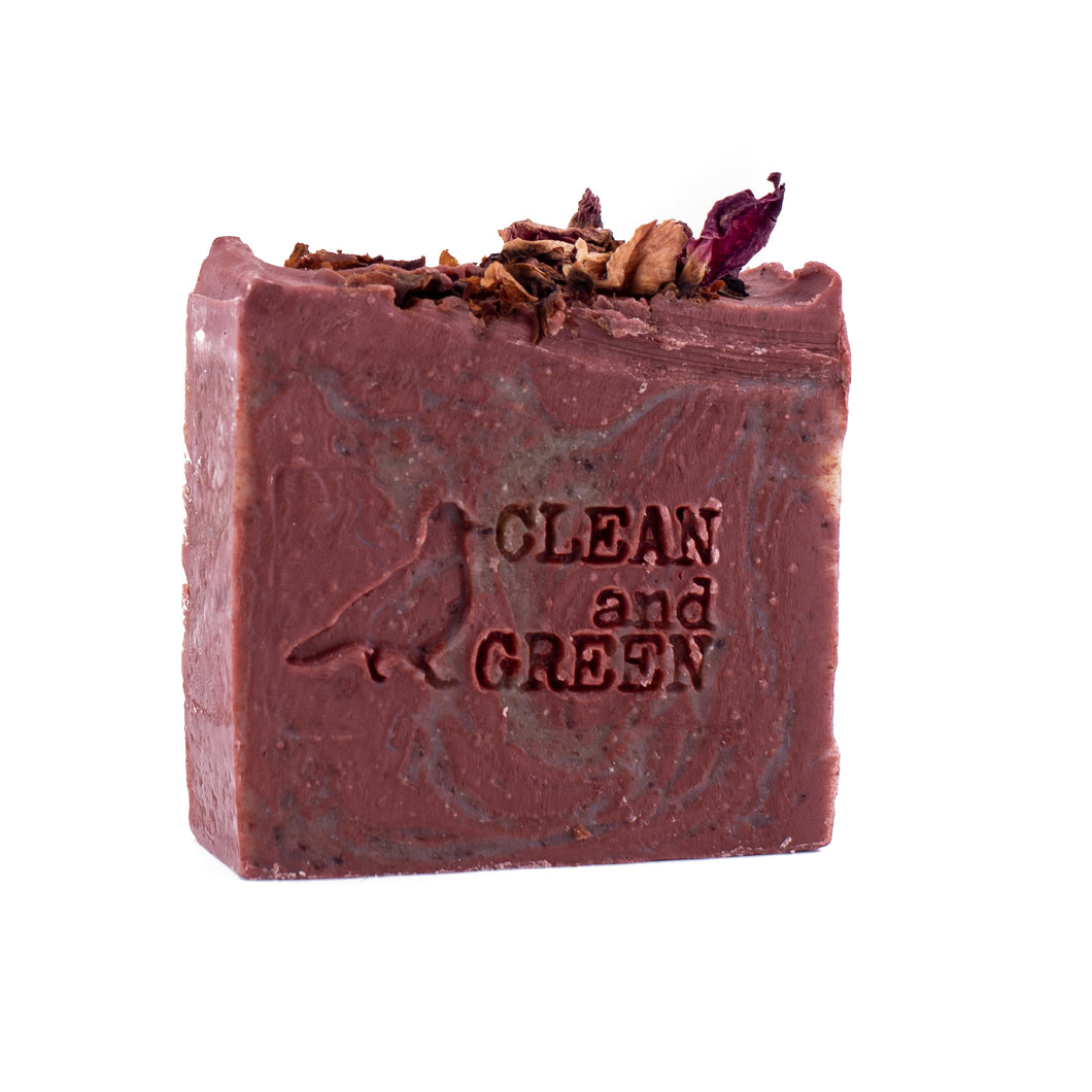 Pink Clay, Hibiscus and Rose Face Bar