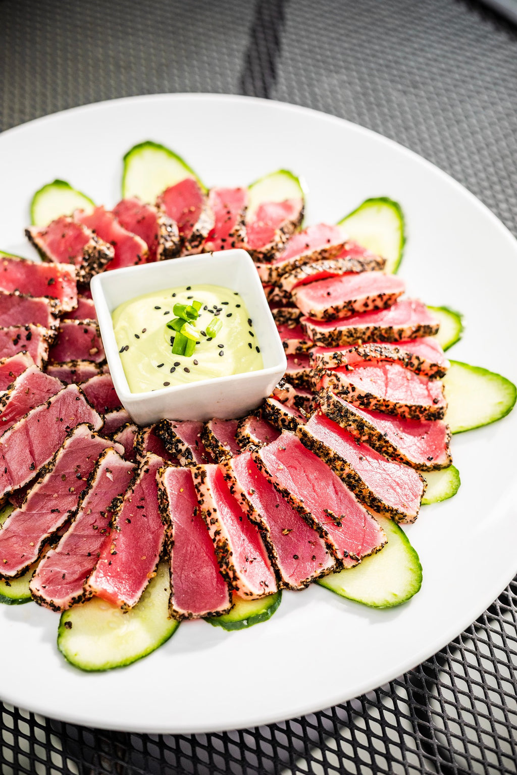 Pepper Crusted Ahi Tuna Platter - Larchmont