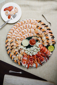 an assortment of seafood