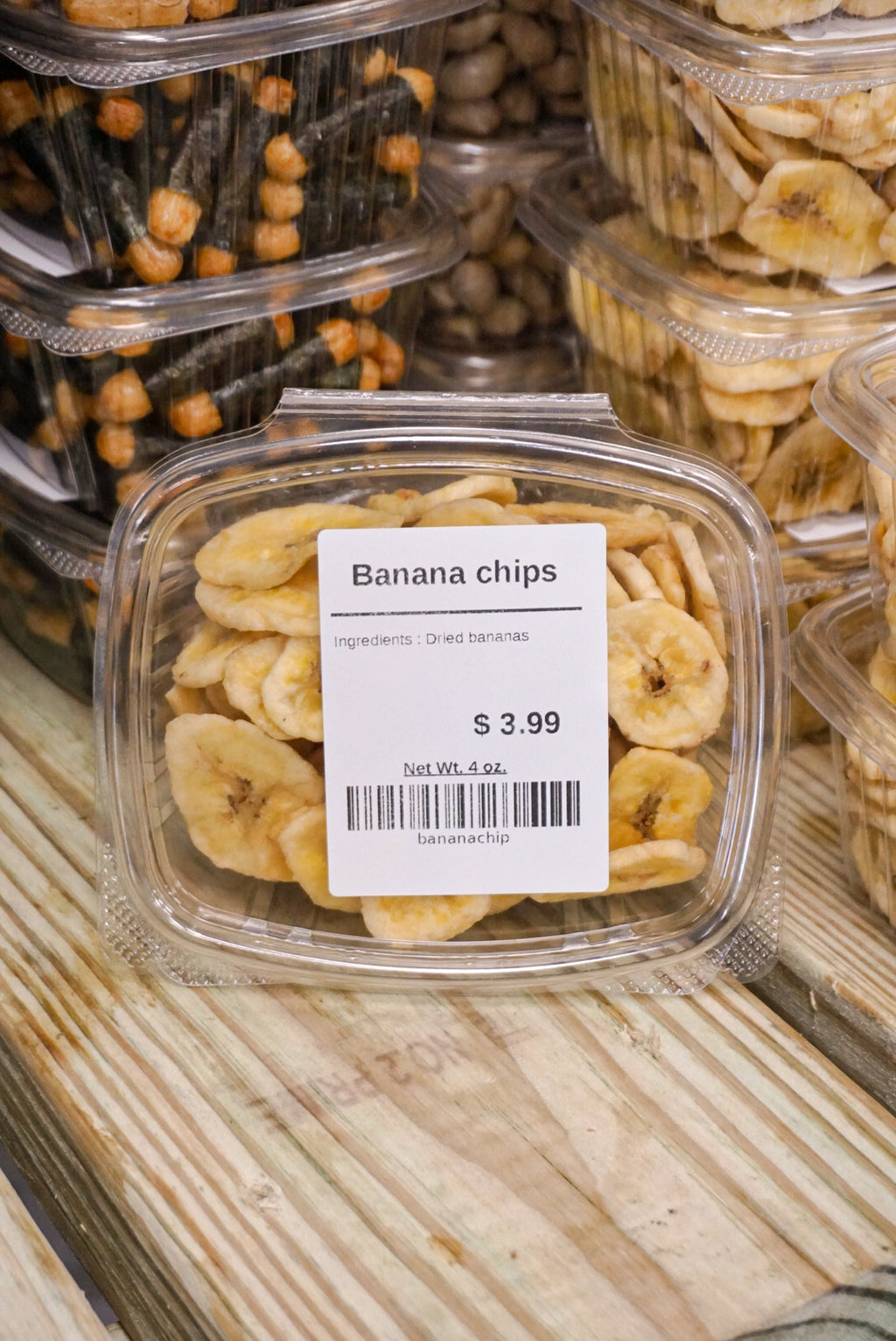 Organic Sweetened Banana Chips - Darien