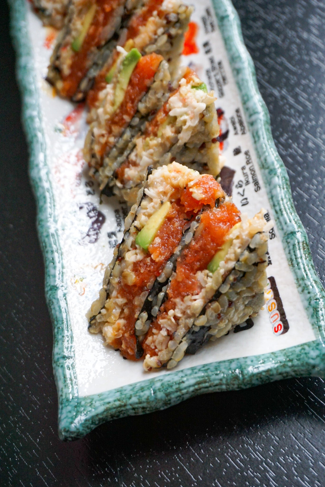 Brown Rice Quinoa Spicy Tuna Sandwich