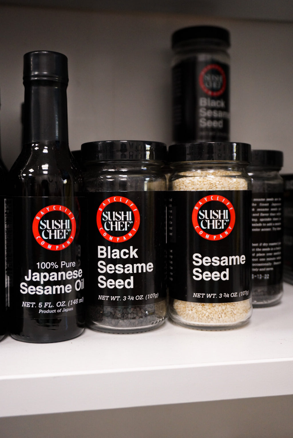 Sushi Chef Black Sesame Seeds 3.75 oz Jar - Larchmont