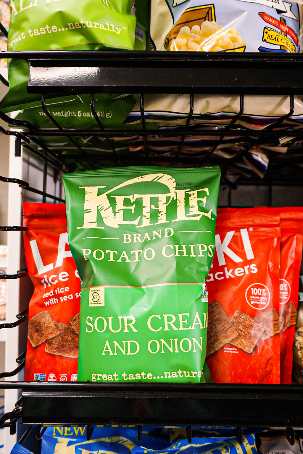 Kettle Potato Chips Sour Cream and Onion 5 oz - New Canaan