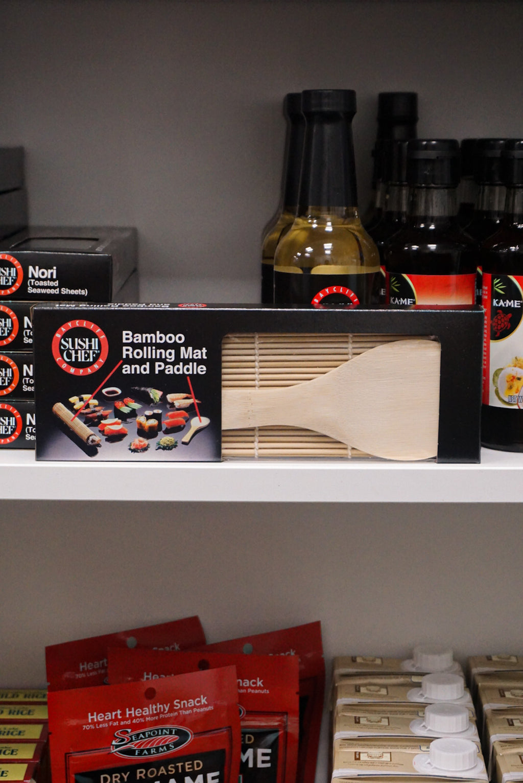 Sushi Chef Bamboo Rolling Mat & Paddle - New Canaan