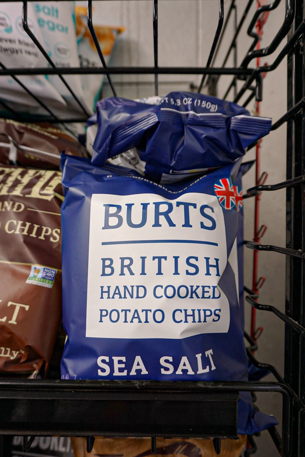 Burts British Hand Cooked Potato Chips Sea Salt - New Canaan