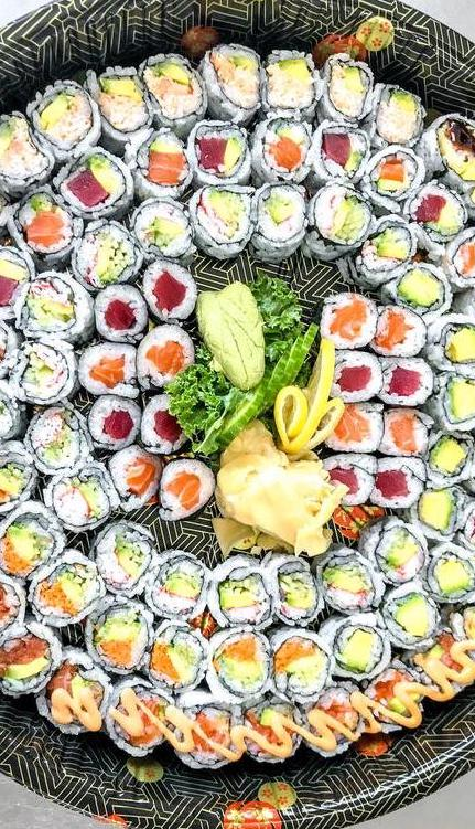 an assortment of sushi