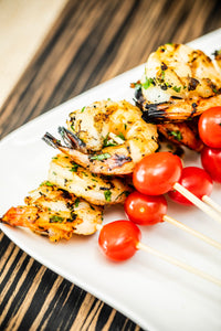 Grilled Jumbo Shrimp Skewer