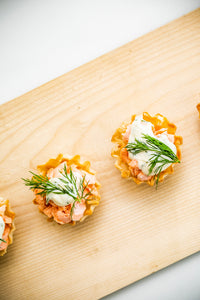 Poached Salmon Phyllo Cup